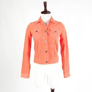 THEORY – Orange Corduroy Jacket Blazer – Size S